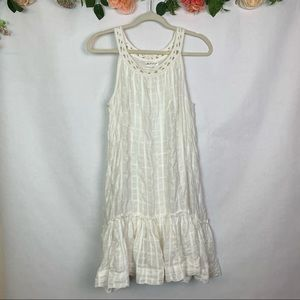 MSSP Ruffled Flounce Sleeveless Prairie Dress S